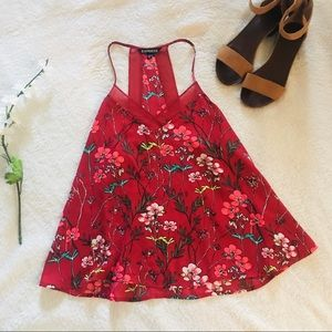 $5 W/ BUNDLE Express Red Floral Tank Top